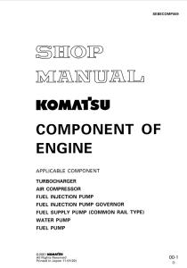 Komatsu Turbocharger, Air Compressor, Fuel Injection Pump, Fuel Injection Pump Governor, Fuel Supply Pump (Common Rail Type), Water Pump, Fuel Pump Component Of Engine Shop Manual SEBECOMP009 English | eBooks | Automotive