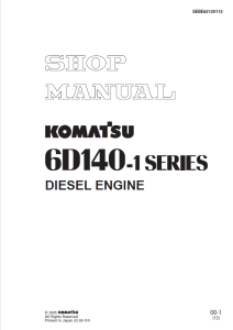 Komatsu S6D140-1, SA6D140-1, 6D140-1 Series Diesel Engine Shop Manual SEBE62120112 English | eBooks | Automotive