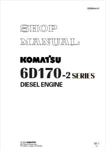 komatsu s6d170-2, sa6d170-2, saa6d170-2, 6d170-2 series diesel engine shop manual sebm008107 english