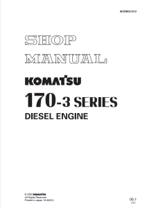 komatsu sa6d170e-3, saa6d170e-3, saa6d170e2-3, saa6d170e-p910, saa6d170e-p970, 170-3 series diesel engine shop manual sebm023412 english