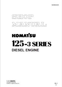 komatsu saa6d125e-3, sa6d125e-3, 125-3 series diesel engine shop manual sebm024208 english