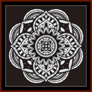 mandala 38 cross stitch pattern by cross stitch collectibles