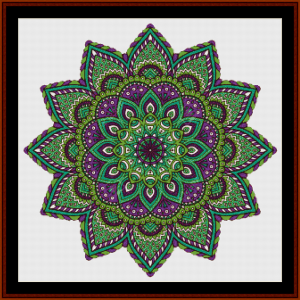 mandala 40 cross stitch pattern by cross stitch collectibles