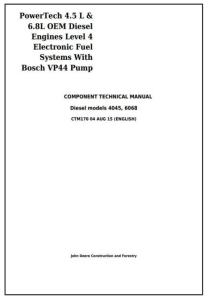 instant download john deere powertech 4.5l & 6.8l diesel engines level 4 fuel system w.bosch vp44 pump service repair technical manual ctm170