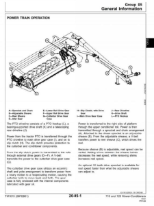 instant download john deere mower-conditioners models 710, 720 diagnostic and repair technical service manual (tm1619)