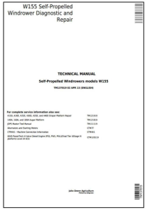 instant download john deere w155 self-propelled hay&forage windrowers diagnostic & repair technical manual (tm137819)