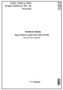 instant download john deere 525d, 530d, 536d hay and forage draper platform all inclusive technical manual (tm142719)