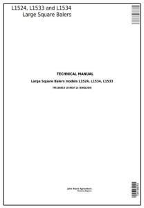 instant download john deere l1524, l1533, l1534 hay & forage large square balers technical service manual (tm136819)