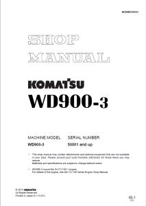 Komatsu WD900-3 50001 and up Wheel Dozer Shop Manual SEBM036903 English | eBooks | Automotive