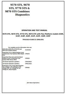 instant download john deere 9570sts, 9670sts, 9770sts, 9870sts combines diagnostic and test service manual (tm101819)