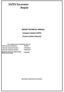instant download john deere 35zts compact excavator service repair technical manual (tm1839)