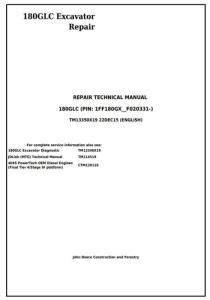 instant download john deere 180glc (pin: 1ff180gx__f020331-) excavator service repair manual (tm13350x19)