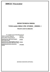 instant download john deere 380glc (pin:1ff380gx__d900001) t3/s3a excavator service repair technical manual (tm12575)