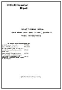 instant download john deere 180glc (pin: 1ff180gx__d020001-) t3/s3a excavator service repair manual (tm12545)