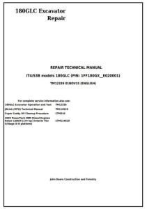 instant download john deere 180glc (pin: 1ff180gx__e020001-) it4/s3b excavator service repair manual (tm12339)