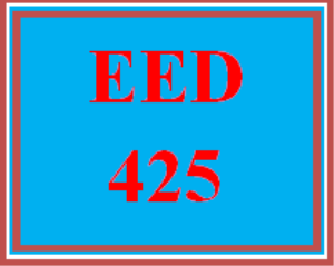 eed 425 week 1 advocating for health education