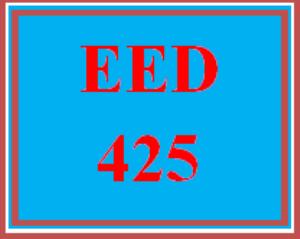 eed 425 week 4 teaching diverse populations