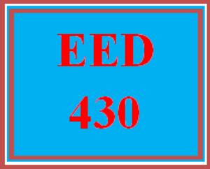 eed 430 week 5 integrated unit