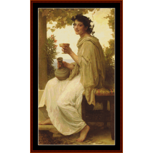 bacchante, 1894 - bouguereau cross stitch pattern by cross stitch collectibles