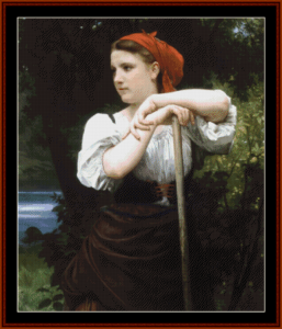 Faneuse - Bouguereau cross stitch pattern by Cross Stitch Collectibles   Crafting   Cross-Stitch   Other