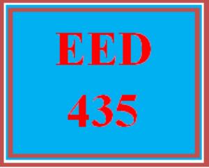 eed 435 week 1 self-expression