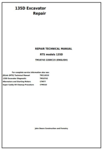 instant download john deere 135d rts excavator service repair technical manual (tm10743)