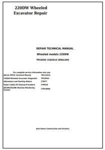 instantdownloadjohndeere220dwwheeledexcavatorservicerepairtechnicalmanual(tm10545)