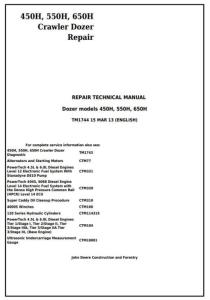 instant download john deere 450h, 550h, 650h crawler dozer service repair technical workshop manual (tm1744)