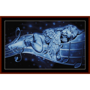 sleeping angel - fantasy cross stitch pattern by cross stitch collectibles