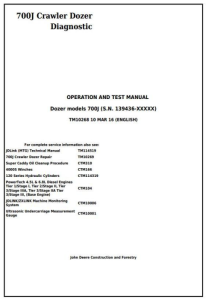 instant download john deere 700j crawler dozer (s.n.from 139436) diagnostic, operation & test service manual (tm10268)