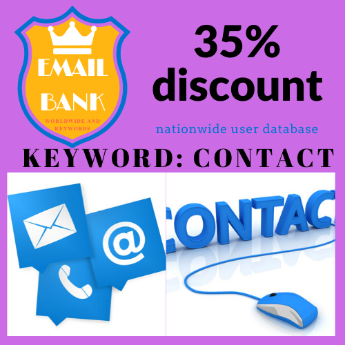 First Additional product image for - Email Data about keyword contact in worldwide