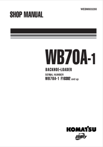 komatsu wb70a-1 f10392 and up backhoe loader shop manual webm003200 english