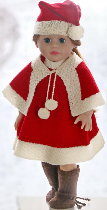 First Additional product image for - DollKnittingPattern  0205D SANNA - dress, cape, cap, pants and socks-(English)