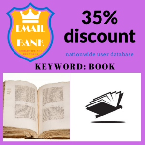worldwide books keyword email data 876.000 contacts