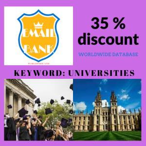 email database keyword - universities worldwide
