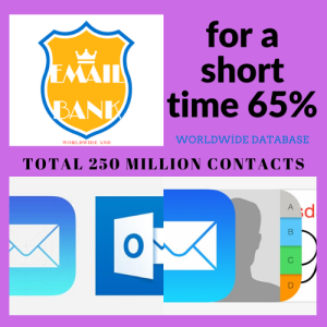 worldwide email data 250 million contacts