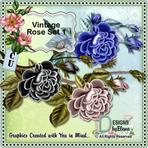 Vintage Roses | Other Files | Scrapbooking