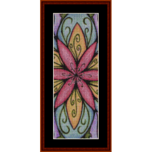 mandala 37 bookmark cross stitch pattern by cross stitch collectibles