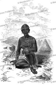 bokke´, wife of a chief of the latuko (otuho) tribe, sudan, alphonse de neuville, 1867