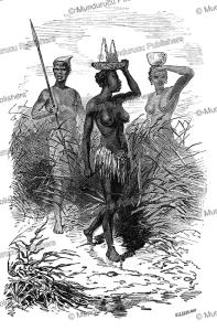 nuer people, south sudan, alphonse de neuville, 1867