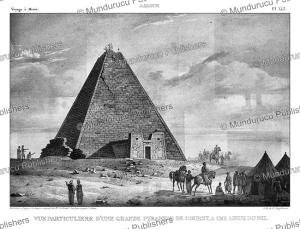nubian pyramid of meroe¨ of the kingdom of kush, sudan, louis pierre alphonse bichebois after cailliaud, 1823