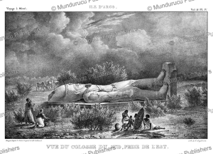 the southern colossus of argo, an island in the nile, sudan, antoine pierre mongin after cailliaud, 1823
