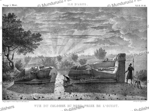 the northern colossus of argo, an island in the nile, sudan, antoine pierre mongin after cailliaud, 1823