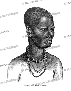 wengo, a woman of the mittoo tribe of the upper white nile, sudan, georg schweinfurth, 1873