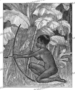 a dwarf with bow and arrow, sudan, dorothy stanley, 1890