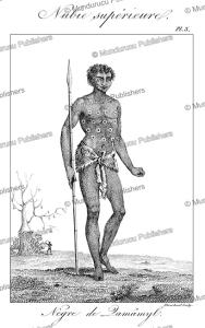negro of damamyl, upper nubia, sudan, fre´de´ric cailliaud, 1826