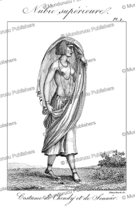 a woman of chendy in sennar, sudan, fre´de´ric cailliaud, 1826