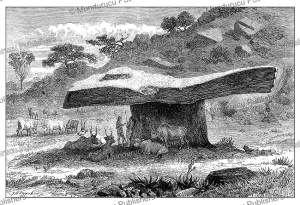strange table stone at rejaf (sudan), jean baptise zwecker, 1874