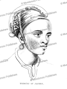 negress of jacoba in sudan, r.n. clapperton, 1826