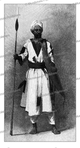 religious fighter of the mahdi, muhammad ahmad, sudan, talbot kellly, 1896
